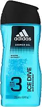 Profumi e cosmetici Gel doccia - Adidas Ice Dive Body, Hair and Face Shower Gel