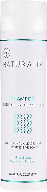 "Shampoo ""Brillantezza e forza"" - Naturativ Getleness Shine&Strength Shampoo — foto N1"
