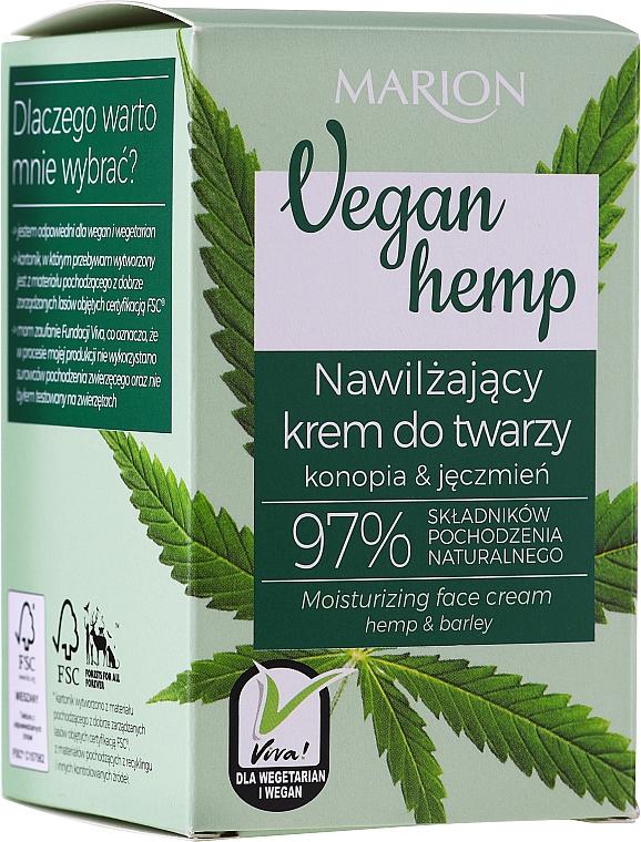 "Crema viso idratante ""Canapa e Orzo"" - Marion Vegan Hemp Moisturizing Face Cream Hemp & Barley"