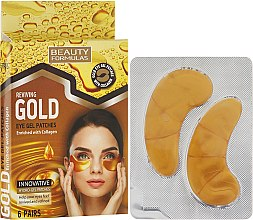 Profumi e cosmetici Patch occhi - Beauty Formulas Reviving Gold Eye Gel Patches