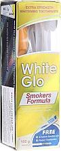 Profumi e cosmetici Set con spazzolino blu - White Glo Smokers Formula (toothpaste/100ml + toothbrush + toothpicks)