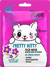 "Profumi e cosmetici Maschera viso ""Gattino carino"" - 7 Days Animal Pretty Kitty"