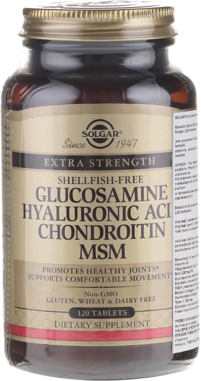 Integratore alimentare - Solgar Glucosamine Hyaluronic Acid Chondroitin MSM