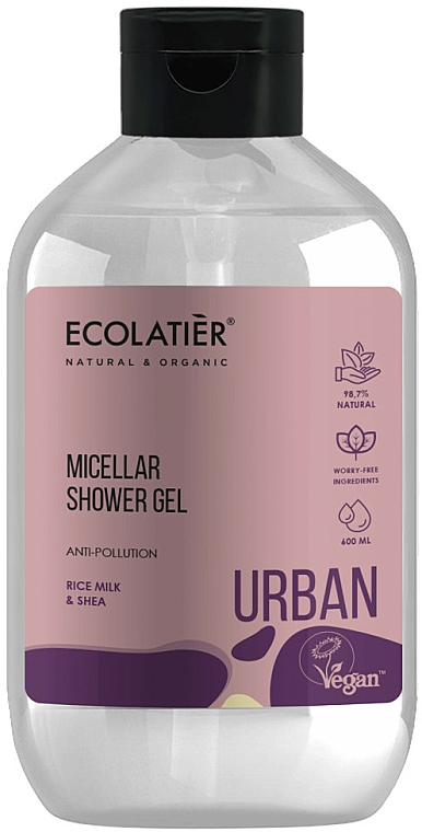 "Gel doccia micellare ""Latte di riso e karité"" - Ecolatier Urban Micellar Shower Gel"