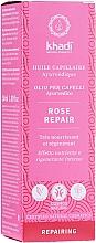 Profumi e cosmetici Olio per capelli intensivo - Khadi Ayuverdic Rose Repair Hair Oil