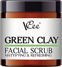 Profumi e cosmetici Peeling viso all'argilla verde - VCee Green Clay Facial Scrub Mattifying&Refreshing