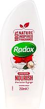 Profumi e cosmetici Gel doccia - Radox Moisturising Nourish Shea Butter & Ginger Shower Cream