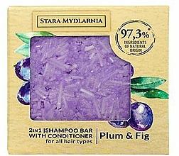 """Profumi e cosmetici Shampoo-condizionante solido """"Prugna e Fichi"""" - Stara Mydlarnia Plum & Fig 2in1 Shampoo Bar"""