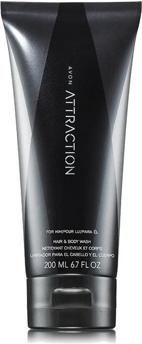 Avon Attraction for Him - Shampoo-gel doccia — foto N1