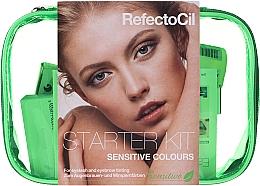 Profumi e cosmetici Set per sopracciglia e ciglia - RefectoCil Lash & Brow Starter Sensitive Kit (dye/3x15ml + developer/gel/60ml + tint/remover/150ml + artist/palette + pads + folder)