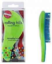 Profumi e cosmetici Spazzola per capelli, verde - Rolling Hills Detangling Brush Travel Size Shine Green