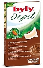 "Profumi e cosmetici Strisce depilatorie per corpo ""Cioccolato"" - Byly Depil Chocolate Hair Removal Strips Body"