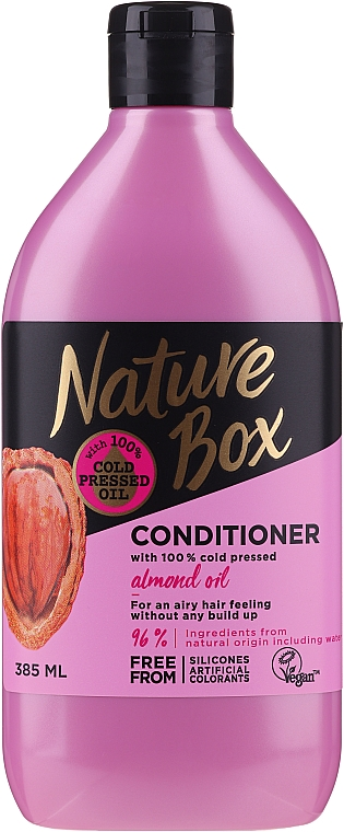Balsamo per capelli con olio di mandorle - Nature Box Almond Oil Conditioner