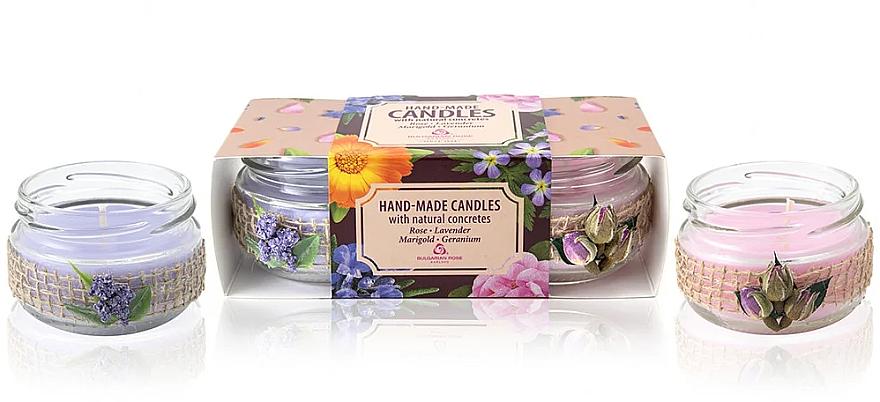 "Set di candele profumate ""Aromaterapia"" - Bulgarian Rose Candle Set (2 pezzi)"
