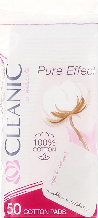 """Dischetti cosmetici di cotone """"Pure Effect"""" , 50pz - Cleanic Face Care Cotton Pads"""