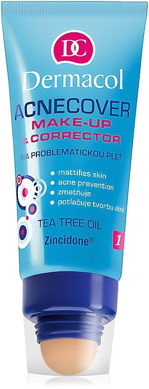 Fondotinta e correttore per la pelle problematica - Dermacol Acnecover Make-Up and Corrector
