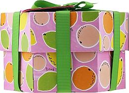 Profumi e cosmetici Set - Bomb Cosmetics Fruit Basket Hexagonal Gift Box (b/bomb/2pcs + soap/2pcs + b/scr/120ml + sh/gel/120ml)