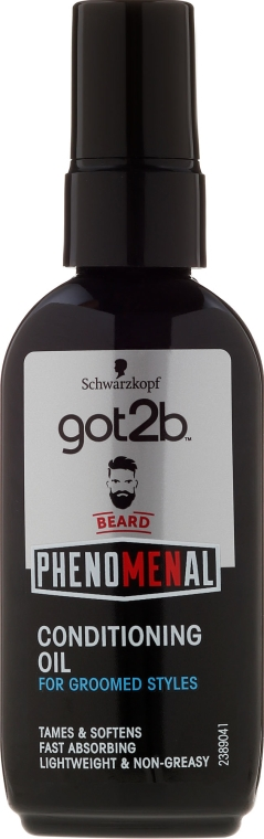 Olio da barba - Schwarzkopf Got2b Phenomenal Beard Conditioning Oil