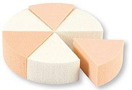 Profumi e cosmetici Spugne trucco, 35821, bianco e beige, 6 pz - Top Choice Foundation Sponges