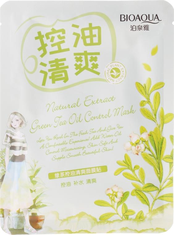 Maschera viso in tessuto rinfrescante al tè verde - BioAqua Natural Extract Mask