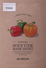 Profumi e cosmetici Maschera in tessuto con paprika - Skinfood Paprika Sous Vide Mask Sheet