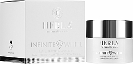 Profumi e cosmetici Crema sbiancante antietà - Herla Infinite White Total Spectrum Anti-Aging Day Therapy Whitening Cream SPF 15