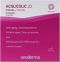 Profumi e cosmetici Trattamento viso completo in fiale con acido glicolico - SesDerma Laboratories Acglicolic 20 Ampoules
