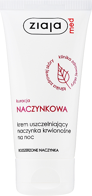 Crema viso, da notte - Ziaja Med Night Cream Capillary Treatment Sealing