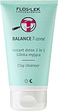 Profumi e cosmetici Detergente viso con argilla - Floslek Balance T-zone Instant Detox 2in1 Clay Cleanser