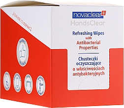 Profumi e cosmetici Salviettine detergenti antibatteriche - Novaclear Hands Clear Refreshing Wipe With Antibacterial Properties