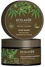 """Profumi e cosmetici Maschera per capelli """"Rinforzante e texturizzante"""" - Ecolatier Organic Cannabis Hair Mask"""