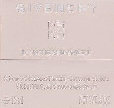 Profumi e cosmetici Crema contorno occhi - Givenchy L`Intemporel Global Youth Sumptuous Eye Cream