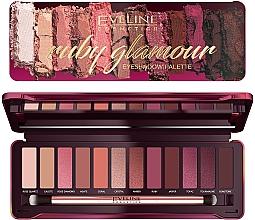 Profumi e cosmetici Palette di ombretti - Eveline Cosmetics Ruby Glamour Eyeshadow Palette