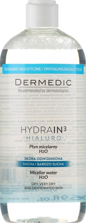 Acqua micellare per la pelle secca - Dermedic Hydrain3 Hialuro Micellar Water
