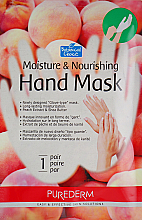Profumi e cosmetici Maschera mani idratante e nutriente a base di pesca - Purederm Moisture & Nourishing Hand Mask