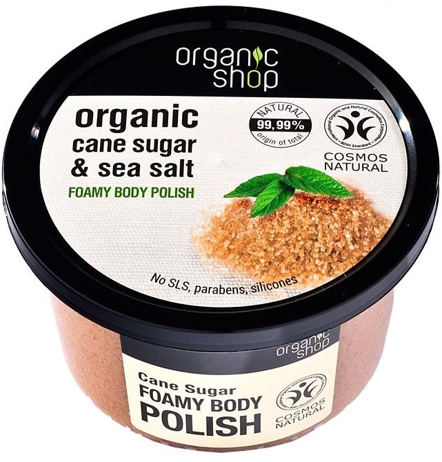"Schiuma scrub per il corpo ""Zucchero di canna"" - Organic Shop Foamy Body Scrub Organic Cane Sugar & Sea Salt"