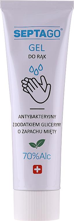 Gel antibatterico mani al profumo di menta, in tubetto - Septago Gel