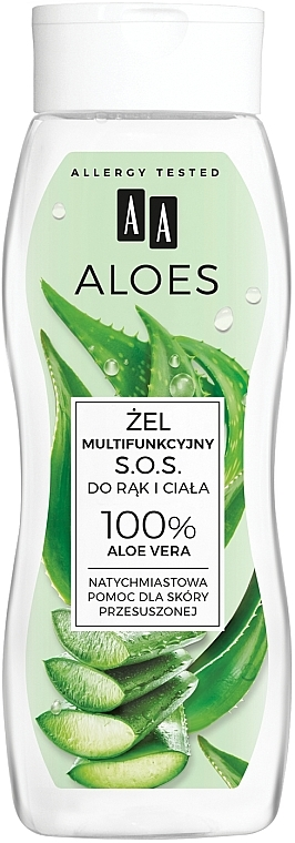 Gel multifunzionale per mani e corpo - AA Aloes 100% Aloe Vera Hand And Body SOS Gel