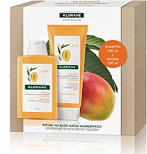 Profumi e cosmetici Set - Klorane Mango (shm/200ml + balm/200ml)