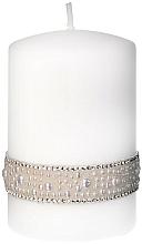 Profumi e cosmetici Candela decorativa bianca, 7x10cm - Artman Crystal Pearl