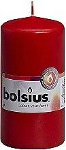 Profumi e cosmetici Candela cilindrica, rossa, 120x60 mm - Bolsius Candle