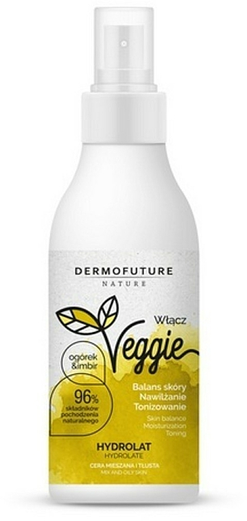 Idrolato per pelli grasse - DermoFuture Ginger & Cucumber Hydrolat — foto N1