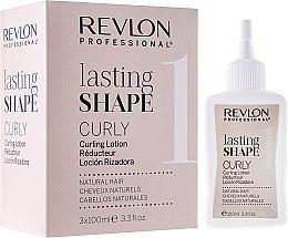 Profumi e cosmetici Set per l'ondulazione dei capelli ricci - Revlon Professional Lasting Shape Curly Lotion Natural Hair (lot/3x100ml)