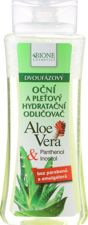 Tonico struccante per gli occhi - Bione Cosmetics Aloe Vera Soothing Two-phase Hydrating Make-up Removal Eyes Tonic