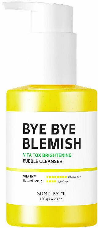 Maschera in schiuma illuminante per una pelle radiosa - Some By Mi Bye Bye Blemish Vita Tox Brightening Bubble Cleanser