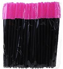 Profumi e cosmetici Scovolini ciglia in silicone, nero-rosa - Novalia Group