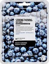 "Profumi e cosmetici Maschera in tessuto ""Mirtilli"" - Superfood For Skin Strengthening Sheet Mask"