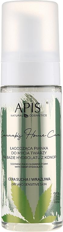 Schiuma detergente lenitiva idratante alla canapa - APIS Professional Cannabis Home Care Soothing Face Cleaning Foam