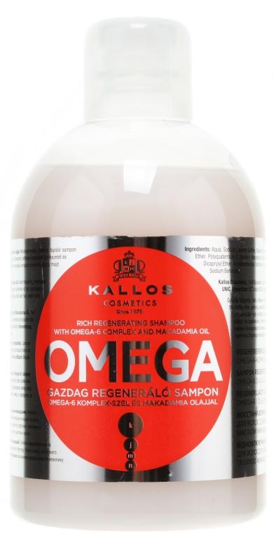 Shampoo rigenerante con complesso di omega-6 e olio di macadamia - Kallos Cosmetics Omega Hair Shampoo