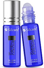 Profumi e cosmetici Olio per unghie e cuticole - Silcare The Garden of Colour Cuticle Oil Roll On Vanilla Sky Blue